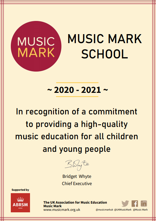 Music mark certificate